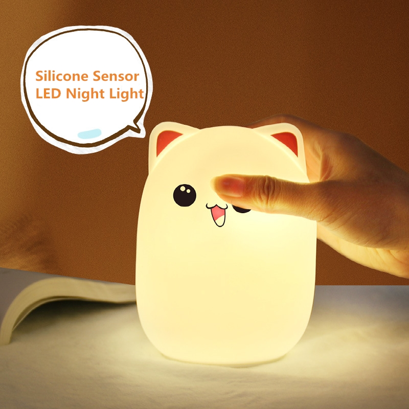 Image 3 - Silicone Touch Sensor cartoon LED Night Light for childrens night light LED USB Children Animal LED RGB 24Key remote control-in LED Night Lights from Lights & Lighting