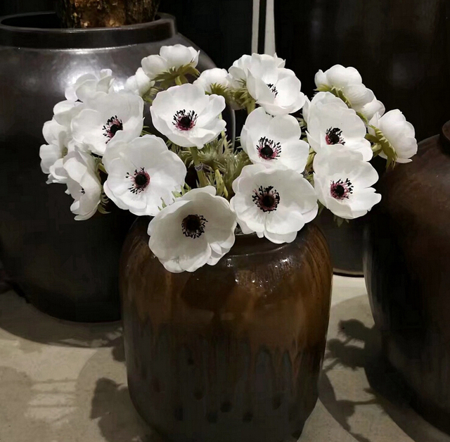 48 pcs Anemone Flower Home Decoration Pasque flower Wedding ...