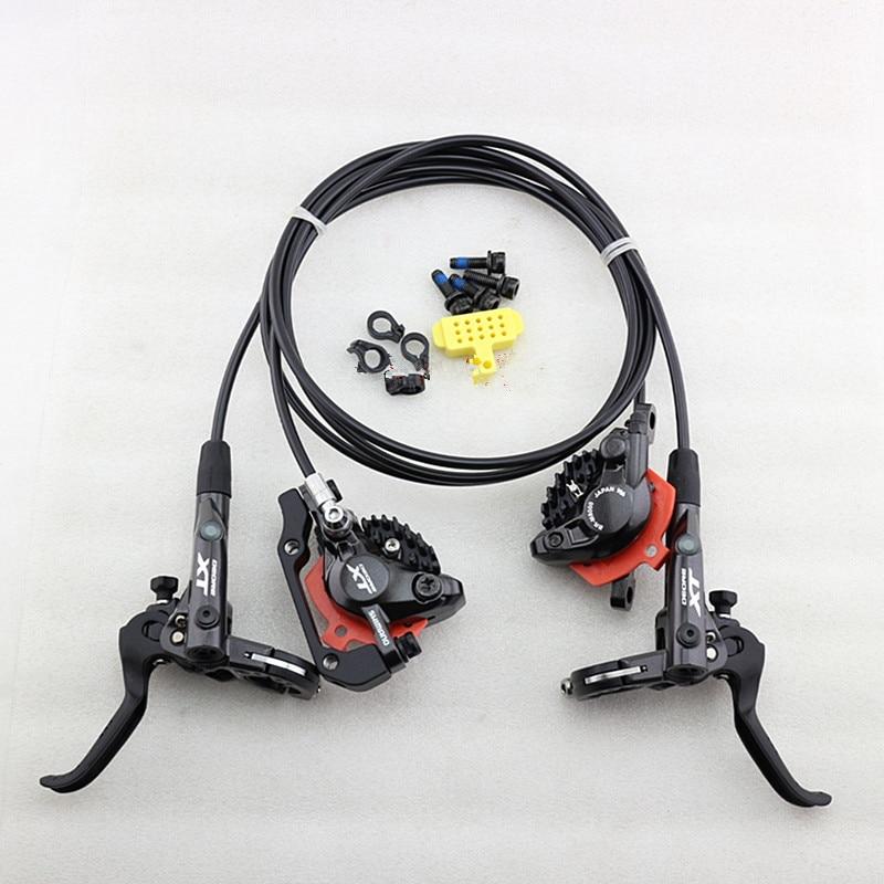 Shimano Deore XT M8000 Hydraulic Disc Brake Set Brake Lever + M8000 Hydraulic Disc Brake Black with ICE-TECH PADS