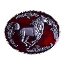 Пряжка из цинкового сплава для мужчин Высококачественный сплав Материал Золото Серебро Лошадь