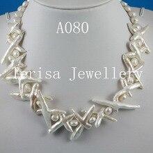 Ювелирное изделие из настоящего жемчуга, жемчужное ожерелье белого цвета с крестиком, Пресноводный Жемчуг, 7-30 мм, 18 дюймов, модное женское ювелирное изделие для свадебной вечеринки