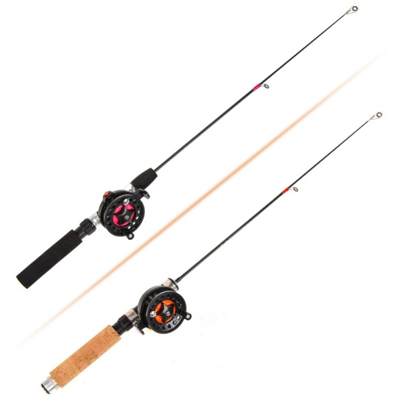 Portable Fishing Rods for Ice Fishing in winter with 2 Telescopic Section and Guide Ring 2