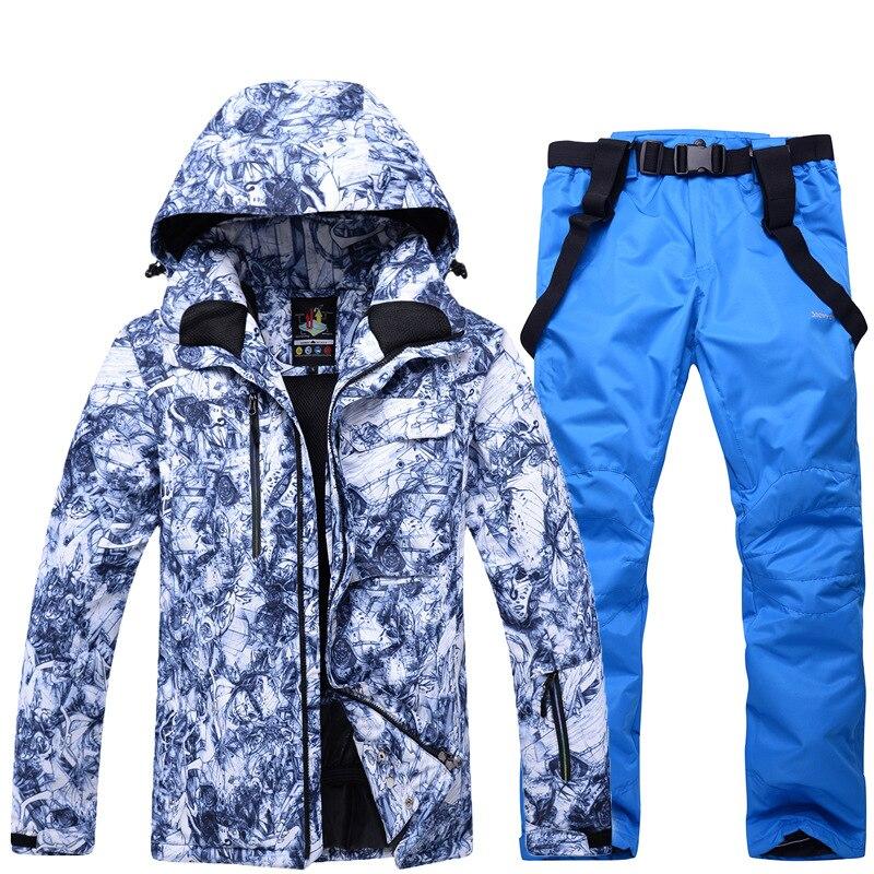 Vestes de Ski thermiques hommes vêtements de snowboard tenue de ville d'hiver veste de Ski de neige à capuche coupe-vent vêtements de Ski imperméables - 4