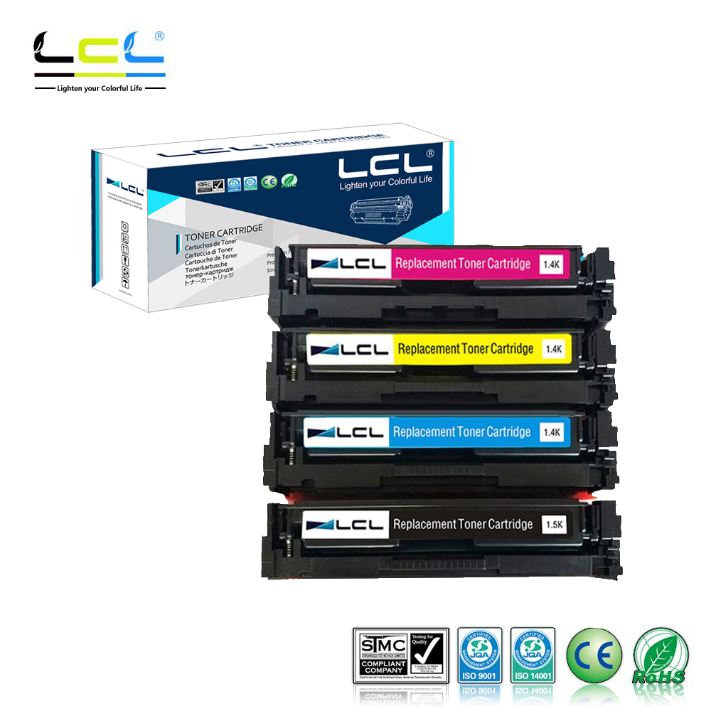 LCL 201X CF400X CF401X CF402X CF403X CF400 (4-Pack) Toner Cartridges Compatible for HP Color LaserJet Pro M252dw/M252n lcl 64a cc364a cc364 1 pack black compatible laser toner cartridge for hp laserjet p4014n p4014dn p4015n p4015tn p4015dn p4015x