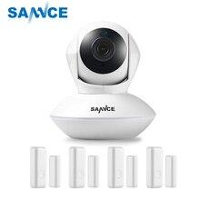 SANNCE 915MHz Wireless Security Alarm 1 720P IP Camera + 4 Door Sensors Wi-Fi Network Defender Baby Monitor Surveillance Camera