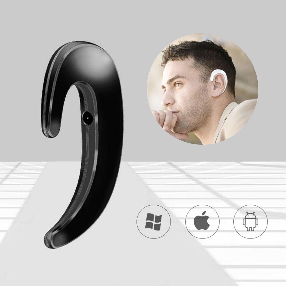 BBGear Wireless Bluetooth Headset Bone Conduction Ear Hook Earphones w/ Call Mic Handsfree Intelligent Stereo Headphone Headsets bluetooth 4 1 bone conduction sports waterproof headset wireless ear hook headphone w mic white