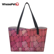WHOSEPET Ladies Top-handle Bag Fashion Design Prints Pattern Girls Brand Travel Totes Female New Arrival PU Handbag