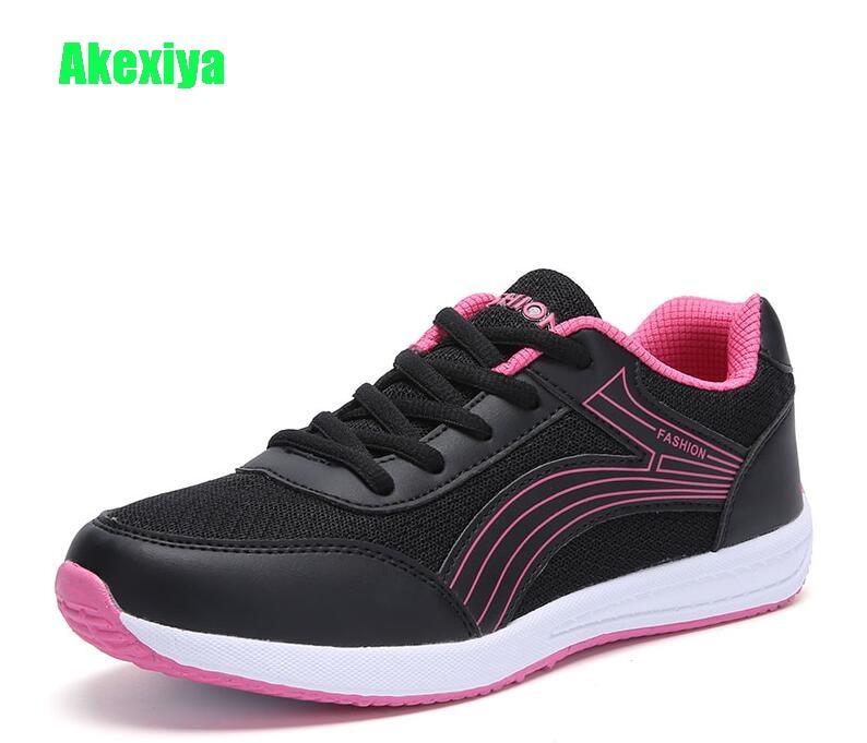 цены Akexiya Spring Autumn Women Sneakers Casual Shoes Women Tenis Feminino Slipony Basket Femme Shoes Woman Outdoor Walking Shoe