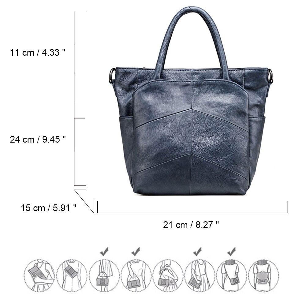 Vrouwen eerste laag van lederen handtassen Casual schoudertas - Handtassen - Foto 6