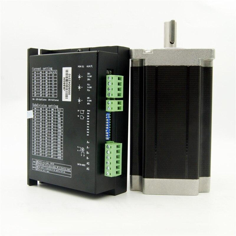 NEMA34 stepper motor 12Nm (1715oz-in) welle durchmesser 12,7/14mm 6.0A und Fahrer JB860M AC18-80V/DC24-110V 2,0-6.0A 256 Micro