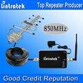 Lintratek 850 МГц Ускорители GSM 850 Мобильный Сигнал Повторителя 3 Г UMTS Repetidor де Celular 850 мГц Антенна Yagi Полный Комплект Горячее Надувательство S20