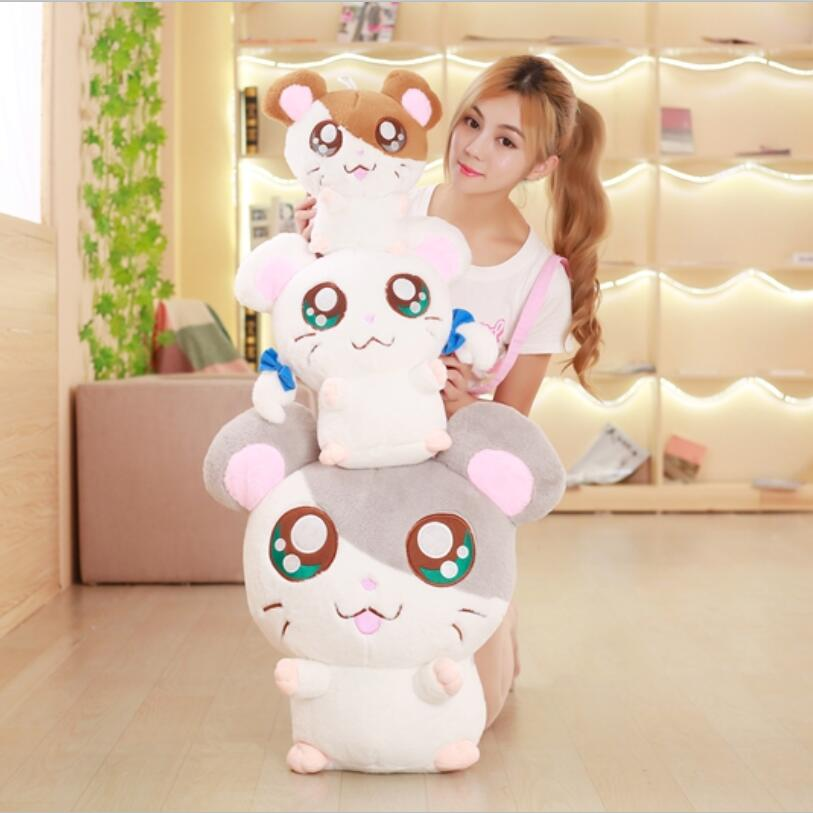40cm Kawaii Big Eyes Plush Hamtaro Hamster Toy Stuffed Hamster Doll Toys Children Gifts Birthday Gifts