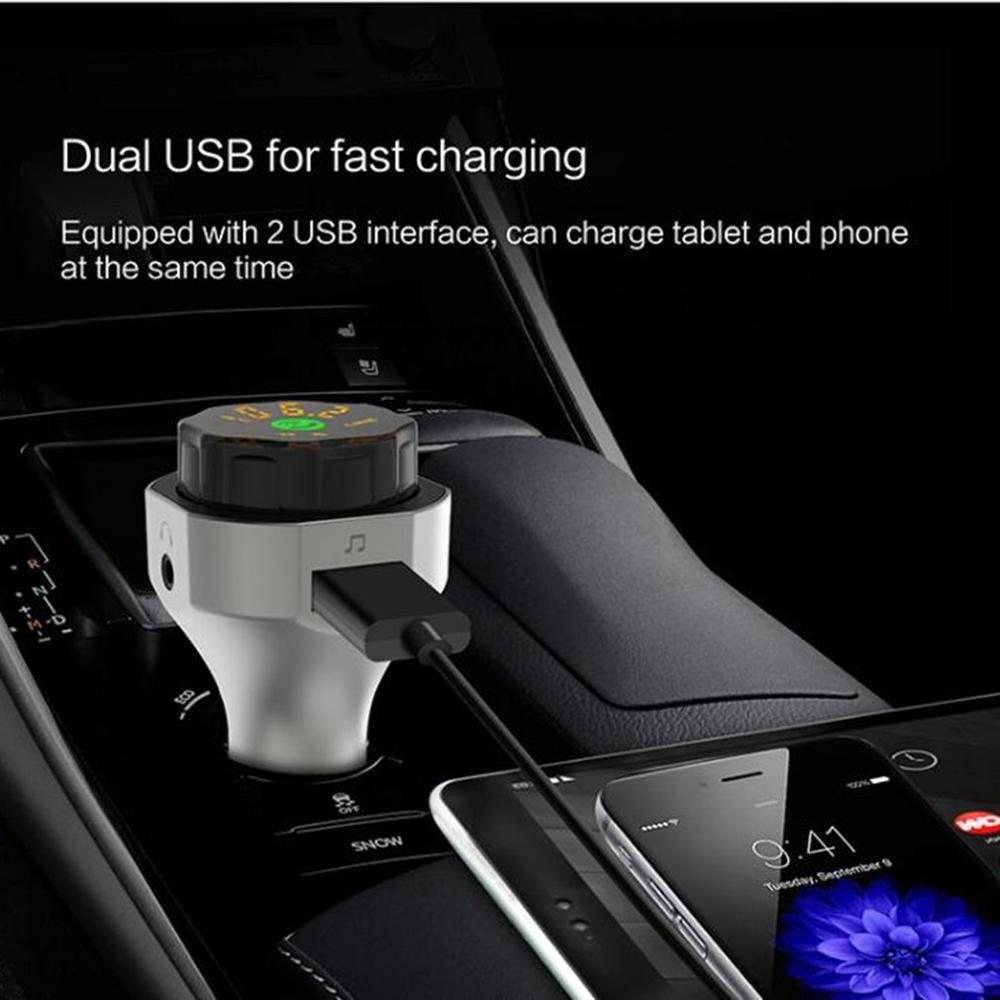 Ap06 voiture Bluetooth 4.2/Fm/Tf carte Mp3 Bluetooth lecteur double Usb chargeur de voiture voiture Bluetooth lecteur