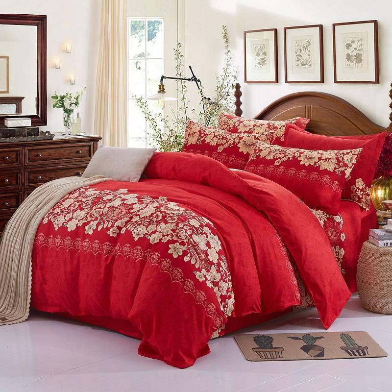 Home Textile Sleek minimalist luxury Plaid thickened bedsheets Quilt cover <font><b>Pillowcase</b></font> Bedding 3/4pcs image