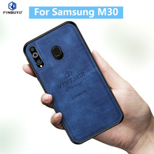 For Samsung M30 Original PINWUYO VINTAGE PU Leather Protective Phone Case for Galaxy Cell Cover
