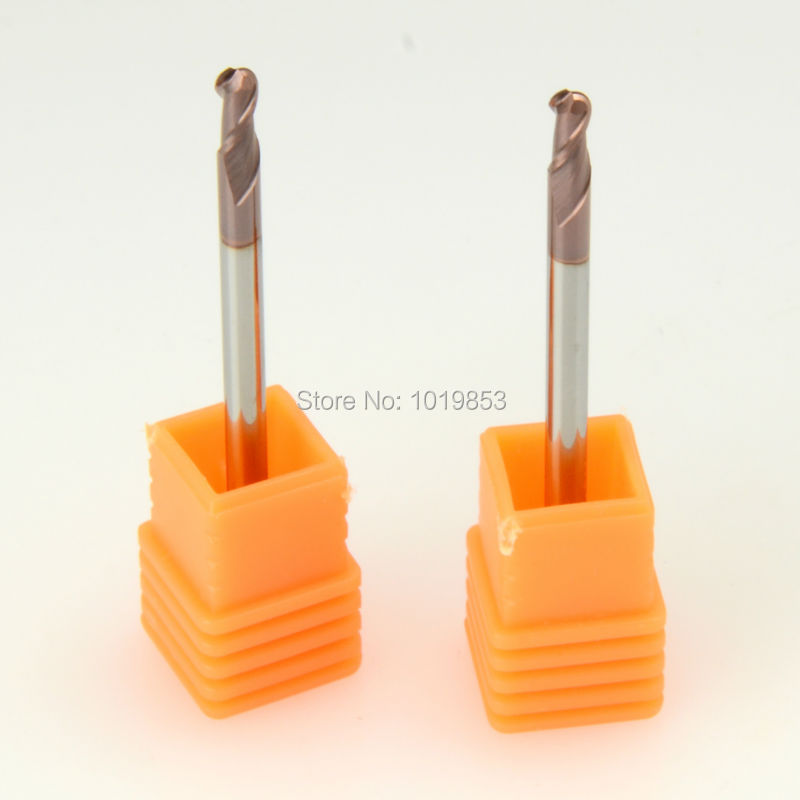 SLONS S300-R1.5x3x50L or R0.5 or R0.75 or R1 or R1.5 R2 HRC55 tungsten solid carbide BALL NOSE end mill for steel or copper