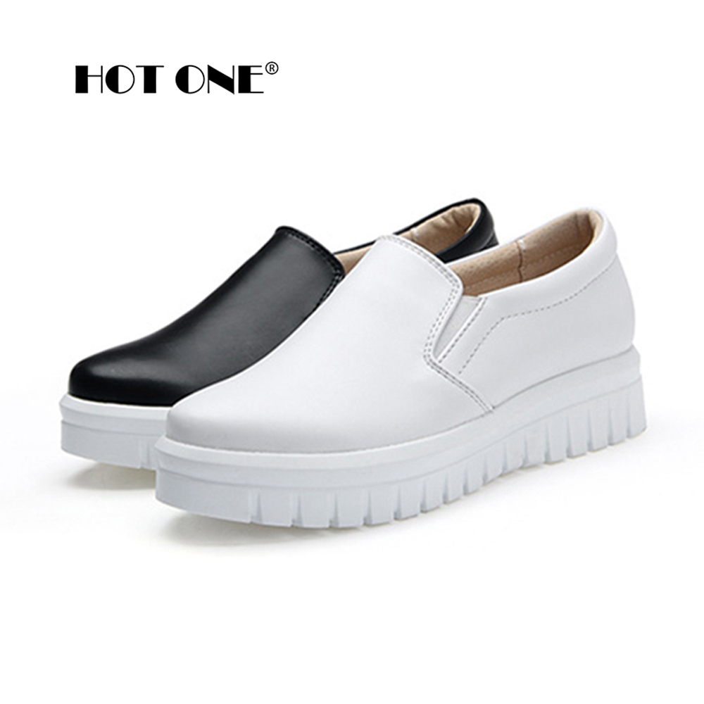 Women Platform Loafers Shoes Brand Women Leather Casual ...