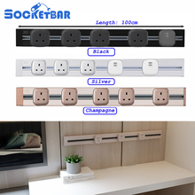 Factory Free Combination 100cm Length UK British socket 2 USB Ports Living Room Kitchen Plug Sockets