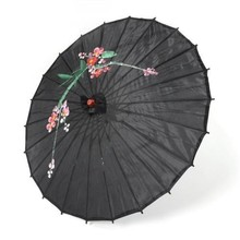 Decorative Silk Satin & Wood Asian Umbrella-Black Hot !!!