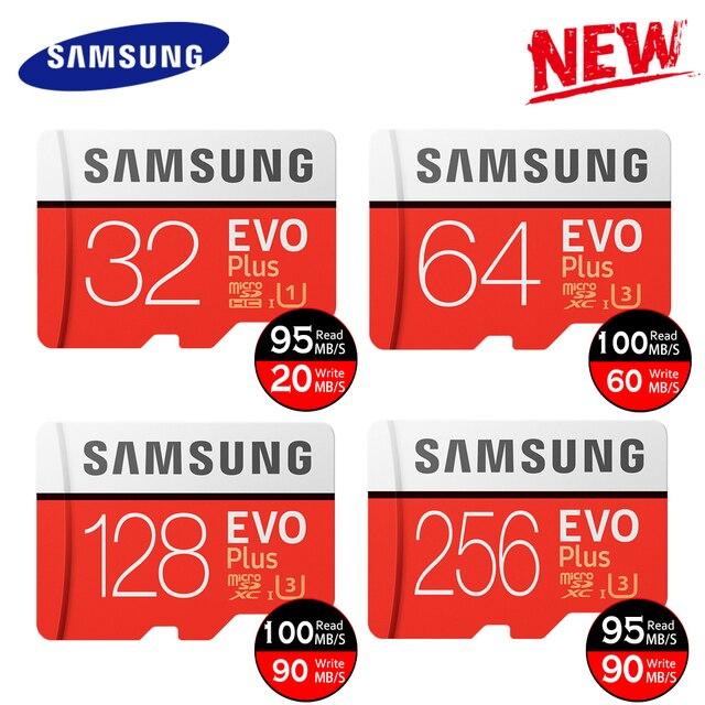 Novo produto Original SAMSUNG EVO + Cartões de Memória gb EVO 64 plus Class10 U3 128 gb 256 gb Micro SD cartão de gb 16 32g UHS-I TF Cartão microSD