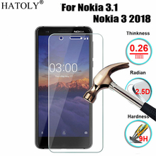 hot deal buy 2pcs tempered glass for nokia 3.1 ultra-thin screen protector for nokia 3.1 film for nokia 3.1 2018 glass ta-1063 ta-1057 hatoly