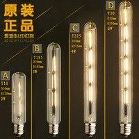 Lámpara LED Retro de tubo, Bombilla Edison Vintage para lámpara, ampollas decorativas E27 220V para Decro, T10/T185/T225/T30