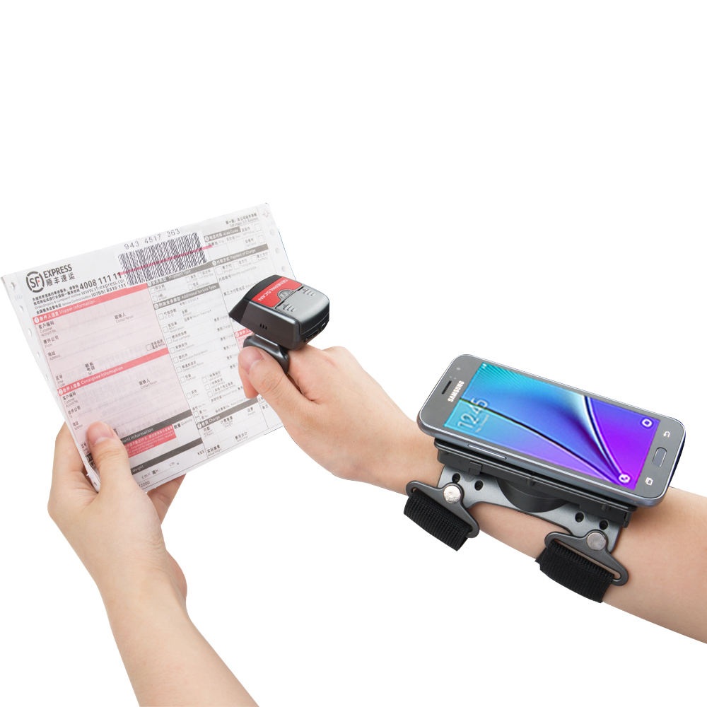 Generalscan R1000BT-HP 1D Laser Longer Distance BT Barcode Scanner with Armband AB1000 for Inventory Management