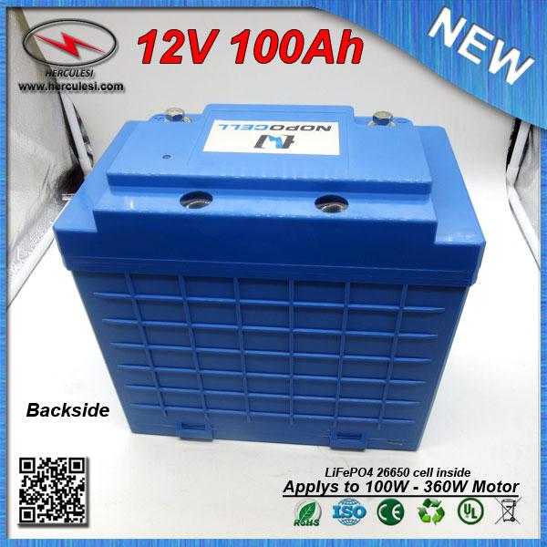 Hard Plastic Housing 360w Lithium Ion Lifepo4 Battery 12v