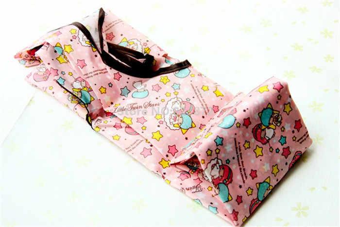 Большая Нейлоновая Складная многоразовая сумка для покупок с рисунком из мультфильма «Моя Мелодия», «Маленькие близнецы», «ЦУМ», «ЦУМ», складная сумка для продуктов, Эко сумка-тоут