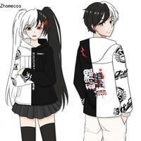 Adult Unisex Anime Danganronpa V3 Monokuma Cotton Hooded Hoodie Jacket Costumes Cosplay For Woman Man Pluz Size