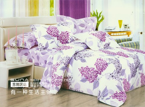 Purple White Bedding Set Pillowslips With Gray Flowers Design In Sets From Home Garden On Aliexpress Alibaba Group