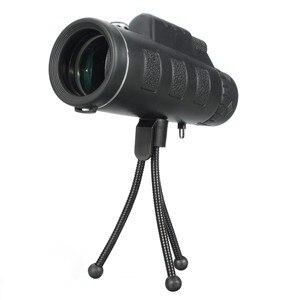 40X60 Zoom HD Dual Для Фокусировки Оптическая Призма Монокулярный Объектив Телескопа С Застежкой На Штатив Для Смартфонов