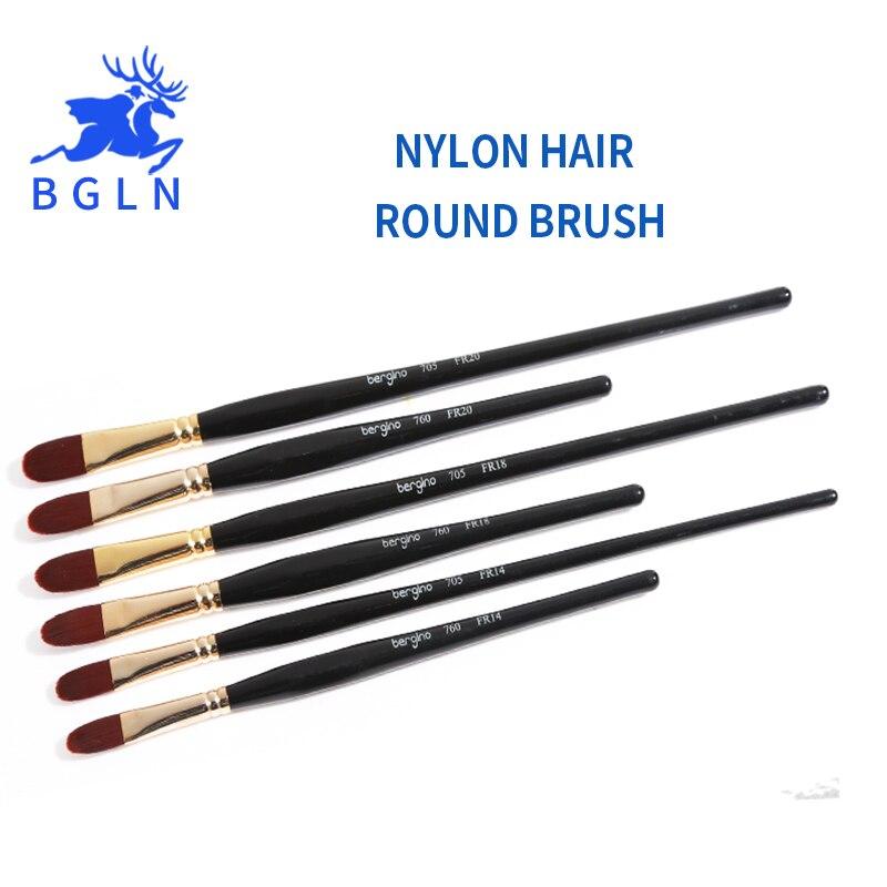 Office & School Supplies Fast Deliver Bgln 1piece Cow Ear Hair Oil Paint Brush High Quality Pincel Para Pintura Brush Pen Oil Acrylic Painting Brush Art Supplies