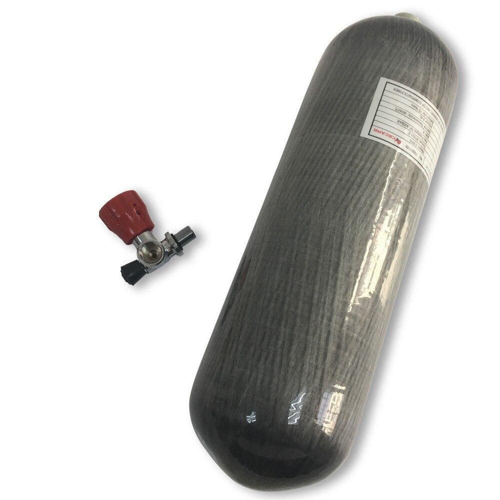 AC16811 Scuba Tank Carbon Fiber 4500psi 6.8L M18*1.5 Thread  Composite Paitnball Tank Pcp Air Rifle Diving Bottle Acecare