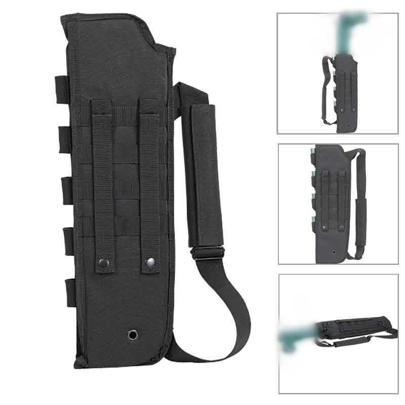 Tactical Hunting Bag Scabbard Molle With Shell Pouch For Shotgun Holster Short Barrel adjustable quick release plastic tactical puttee thigh leg pistol holster pouch for usp45 black