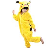 Onesie Kids Children Pajamas Boys Girls Pijama Pikachu Anime Cosplay Pikachu Costume Winter Baby Christmas Children