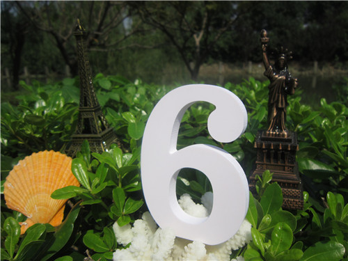 Tuba size  15cm 1pcs Home Decorations Artificial Wood White Letters wooden Letters of Wedding Birthday wedding decorations Gifts 5