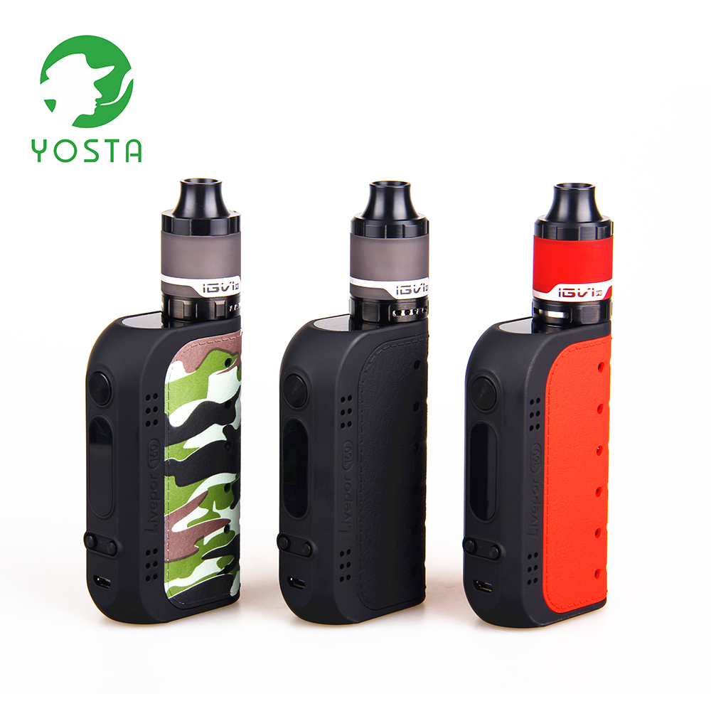 Yosta Livepor 160 w Vaporisateur Kit 510 Fil 4 ml Mesh Tank Écran OLED 18650 Batterie VW/Boîte De TC mod Kit Shisha Stylo Cigarette Électronique