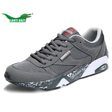 LANTI KAST Men Running Shoes High Quality Breathable Lace Up Stability Sport Shoes Men Anti-slippery Hard-wearing Male Sneakers