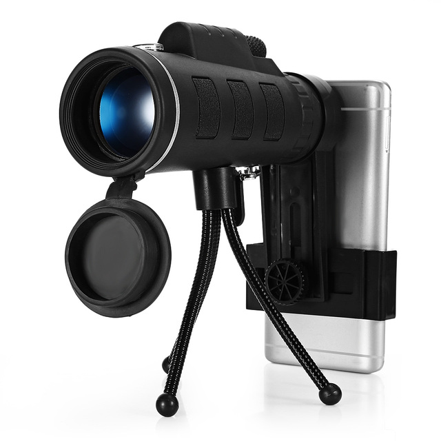 Monocular Telescope With Compass Phone Clip Tripod (40X60)