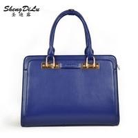 Women Leather Handbags Bag Ladies Famous Brand 2016 Alligator Grain Handbag Top Quality Classic Pattern Bag
