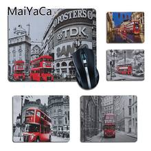 MaiYaCa London Bus England Phone Retro Design Gamer Speed Mice Retail Mousepad PC Computer cheapest Newest Mat Gaming Mouse pad(China)