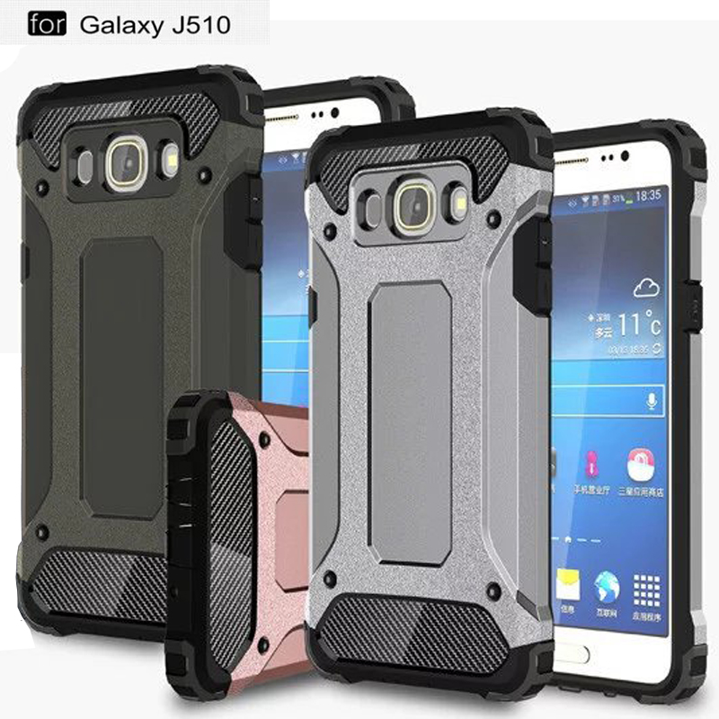 PC+TPU Hybird Protective Cases For <font><b>Samsung</b></font> Galaxy J5(<font><b>2016</b></font>) <font><b>J510</b></font> within Heat Radiation Nets Precise Holes Outdoor Shockproof Case image