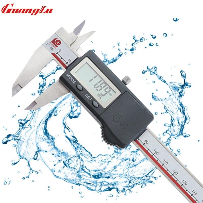 Etrier numérique 0-150mm IP67 règle étanche micromètre en acier inoxydable instruments de mesure