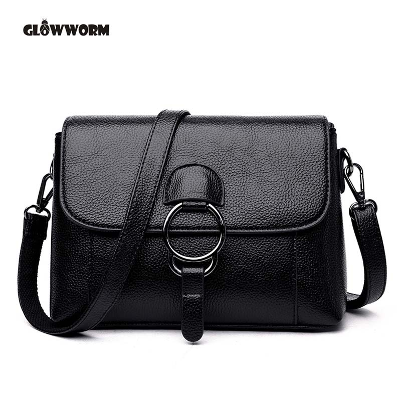 Women Messenger Bags Peekaboo Bag Handbags High Quality Genuine Leather Totes Fashion Shoulder Crossbody Bag Small Tote Bag bailar fashion women shoulder handbags messenger bags button rivets totes high quality pu leather crossbody famous brand bag