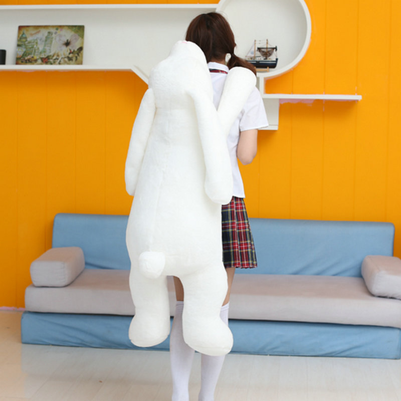 90cm Large Size Long Arm Rabbit plush Toys White soft goat Rabbit Cloth Doll Girl Sleep Bed Pillow Cushion birthday gfit all long size 30cm real picture wedding doll lovely plush toys small size rabbit mobile phone chain sucker toys