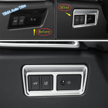 Lapetus Headlights Lamp Switch Button Frame Cover Trim Fit For Jaguar F-Pace / E-Pace 2017 - 2019 Carbon Fiber Look Matte