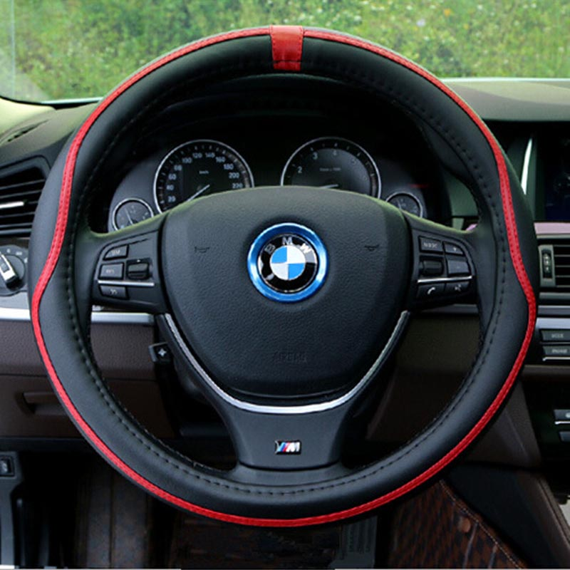 NEW Sport Steering Wheel Cover Fiber Leather Car Steering