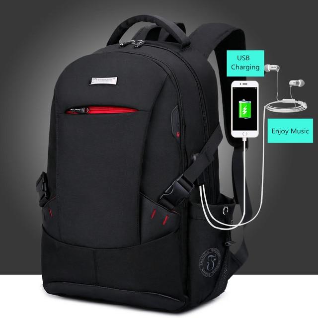 FengDong school bags for boys black waterproof laptop backpack for men luggage travel bags anti theft backpack usb bag schoolbag 2