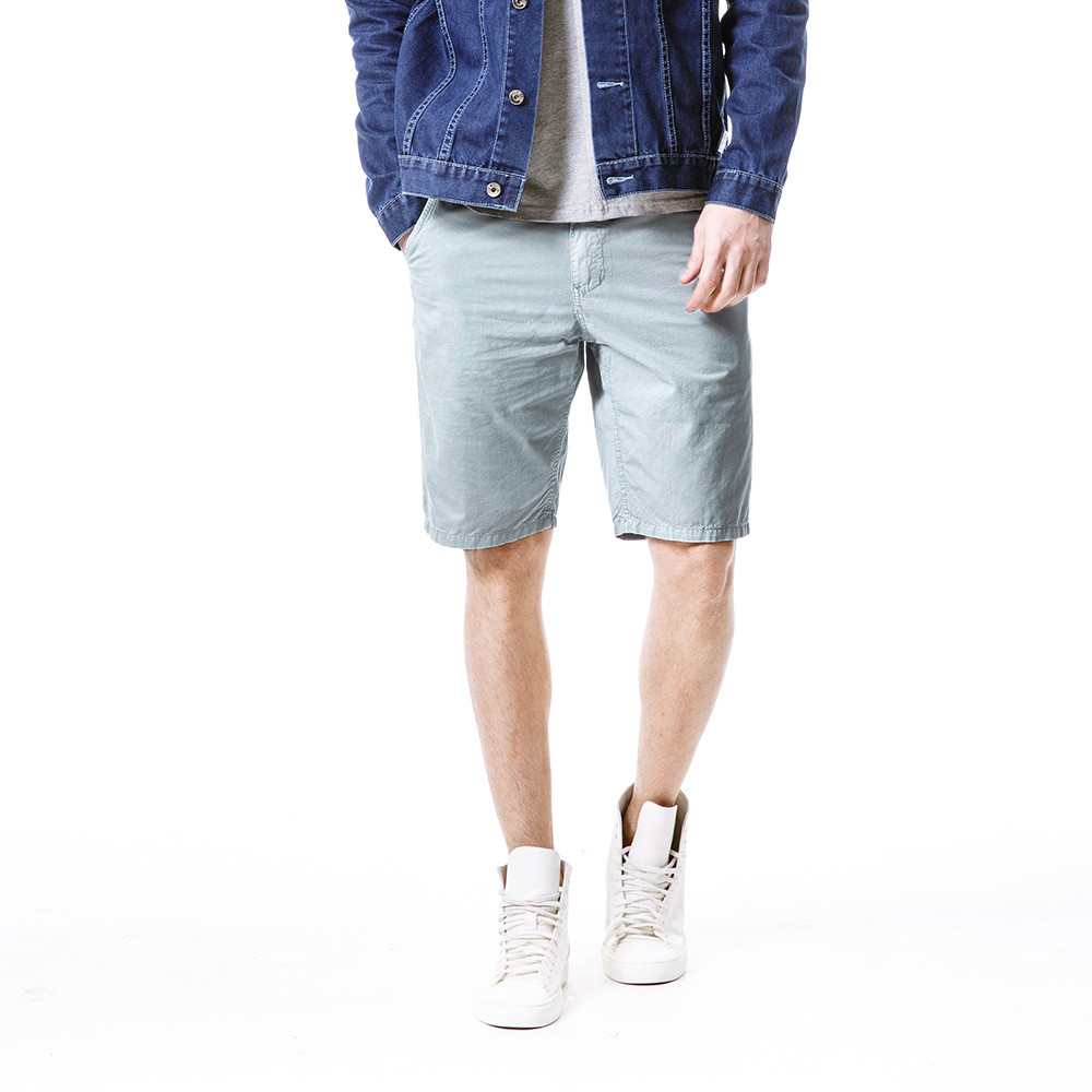 Men Fashion Realm Casual Pure Color Outdoor Pocket Beach Work Trouser Cargo Gray Shorts Beach Sport Training Combat W30418
